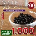 ワイルドブルーベリー 200g ブルーベリー ドライフルーツ ポリフェノール 食物繊維 ヨーグルト シリアル メール便 ポイント消化 送料無料   簡易包装 ポイント