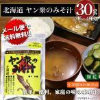 みそ汁 メール便で送料無料  ヤン衆のみそ汁 30g 3〜4杯分  焙煎根こんぶ使用 科学調味料無添加 味噌汁 みそしる 北海道 簡単 即席