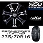デリカD:5 2インチアップ RAYS FDX-D+GEOLANDAR A/T-S P235/70R16 OWL 4本セット