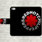 レッドホットチリペッパーズ 手帳型 スマホケース iPhone8 iPhone7 iPhone6s Plus Xperia 全機種対応