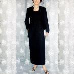 ブラックフォーマル [黒いビーズと刺繍のお花が格調高いツーピーススーツ] LL-025