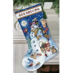 Dimensions クロスステッチ刺繍キット クリスマス靴下 スノーマンと森の友達