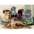 クロスステッチ刺繍キット リオリス 猫のファミリー