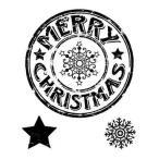 メリークリスマス シール 輸入スタンプ