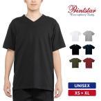 Tシャツ メンズ 半袖 Vネック 無地 厚手 Printstar プリントスター 5.6オンス ヘビーウェイトVネックTシャツ