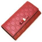 グッチ GUCCI 2つ折り長財布(小銭入れ付き) Bow Gucci Signature Continetal Wallet Red レッド 388679 CWC1G 6433