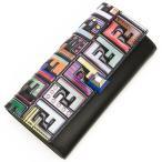 ショッピングフェンディ フェンディ FENDI 2つ折り長財布(小銭入れ付き) NERO+MLC+PA ブラック/マルチカラー 8M0251 A18I F0X93