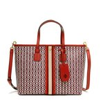 トリーバーチ トートバッグ レディース TORY BURCH LIBERTY RED GEMINI LINK レッド GEMINI LINK CANVAS SMALL TOTE 53304 939