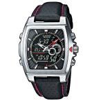 期間限定ポイント6倍!!カシオ 腕時計 エディフィス   CASIO  EDIFICE EFA-120L-1A1VEF アナデジ 多機能 ブラック レッド シルバー