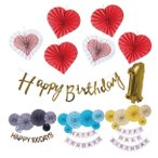 [ ハーフバースデー & 100日 対応] 誕生日 パーティー 飾り 飾り付け バルーン ハッピーバースデー ハーフバースデー 100days 100日 バースデー 1歳 2歳