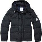 FIDELITY WOOL DOWN JACKET SOLID CHARCOAL NAVY ダウンジャケット フィデリティー