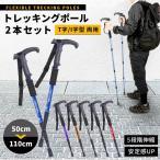 トレッキングポール 2本セット 4段階伸縮 ステッキ ストック 軽量アルミ製 登山用杖 アウトドア用品