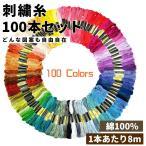 刺繍糸 セット 100束 綺麗な発色と大好評 100色 クロスステッチ ミサンガ 裁縫 手芸 糸 ソーイング ハンドメイド ポイント消化