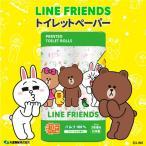 【送料無料】LINE FRIENDS トイレットペーパー パルプ100% 2枚重ね 96ロール(12ロール×8パック)  トイレットロール フローラルの香り画像