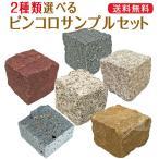 ピンコロ サンプル 2種類まで選べます ピンコロ石 天然石 タイル レンガ DIY 花壇