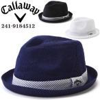 キャロウェイ   メンズ  中折れハット  サイズ調整    241-9184512   帽子 ゴルフ 010_ブラック 日本 FR  FREE サイズ
