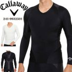 キャロウェイ メンズ ゴルフウェア CALLAWAY TRAINER アンダーウェア Vネック 長袖インナーシャツ 241-9932501 M-3L