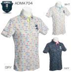 XLサイズあり アドミラル メンズ ゴルフウエア THE BEATLES HELP ワイドカラー ポロシャツ ADMA704 2017年春夏モデル