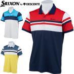 スリクソン by デサント メンズ ゴルフウェア サンスクリーン パネルボーダー 半袖ポロシャツ RGMNJA21 M-3L