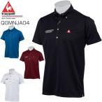 le coq sportif GOLF メンズ ポロシャツ 半袖ボタンダウンポロシャツ ツイストチェックジャカードポロシャツ