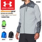 アンダーアーマー UNDER ARMOUR UA STORM1 PRINTED JACKET 1289752 001 BLACK BLACK REFLECTIVE SM