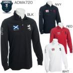 アドミラル メンズ ゴルフウェア フラッグ 長袖ポロシャツ ADMA720 2017年秋冬モデル