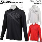 スリクソン by デサント ゴルフ メンズウエア ツアーモデル ストレッチ天竺 長袖ポロシャツ SRM1046F
