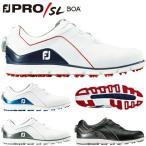 フットジョイ ゴルフシューズ PRO SL BOA スパイクレス メンズ ホワイト ブルー  53291 27.0cm