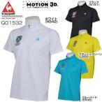 ルコック メンズ ゴルフウエア サラピーク ハーフジップ モックネック 半袖シャツ QG1532