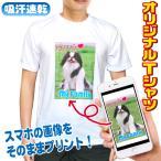 オリジナルTシャツ 写真 1枚から 作成 デザイン おもしろTシャツ ドライTシャツ ホワイト生地