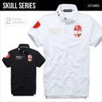 ショッピングスカル ポロシャツ 半袖 メンズ POLO スカル ドクロ ゴルフウェア イタリア アーミー SKULL XZY1411SL