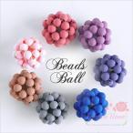 【ゆうパケット可】ハンドメイド用♪プラスチック製ビーズボール♪マット塗装♪2個♪7色♪約16mm★1711/プラスチック/アクセサリー/パーツ/材料/beads365