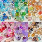 カラフル ビジューミックス 30g ビーズ ガラス ストーン ピアス イヤリング    2010 beads881