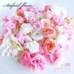 【数量限定福袋】大量激安♪ディスプレイ・イベント・パーティに♪赤・ピンク系造花バラ♪フェイクフラワープリンセスセット♪100個★ハロウィン/リース