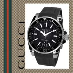 グッチ 時計 ダイブ ダイヴ メンズ 腕時計 Gucci Dive YA136204 ラバーベルト ダイバーベゼル カレンダー クオーツ