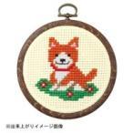 オリムパス製絲 ししゅうキット イヌとお花No.7346