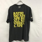 【中古】 A BATHING APE ア ベイシング エイプ 半袖カットソー Tシャツ 日本製 グリーン L