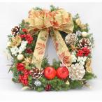 クリスマスリース♪ レッド&ゴールド/プリザーブドフラワー