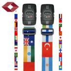 [送料299円〜]TSAロック付きGPTスーツケースベルト おしゃれな国旗柄 アウトレット品 2点迄メール便OK(gu1a340)