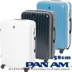 PAN AM パンナム 58cm 502055 TSAロック搭載 4輪スーツケース ジッパー(je2a164)[C]