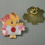 キューピー日の丸桜ピンズ Q-007 メール便OK(da1a022)