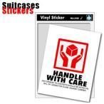 [送料299円〜]Suitcases Sticker(スーツケースステッカー)FRAGILE(フラジール)05 HANDLE WITH CAREステッカーSK-062 100点迄メール便OK(ze0a015)