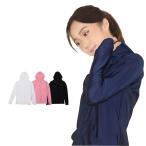 ショッピングラッシュ GronG ラッシュガード レディース 長袖 ジップアップ パーカー UVカット UPF50+ フード付き