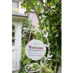 ガーデンオーナメント ハンギングラウンドウェルカムボード 玄関 庭 飾り ガーデニング
