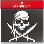 ショッピングスノボ 海賊ドクロ 骸骨 スカルステッカーver2 /定番シンプルシール /車 macbook スノボに #