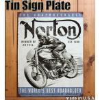 ブリキ看板 サインプレート NORTON ノートン イギリスバイクメーカー [1706]