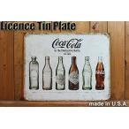 ブリキ看板 サインプレート COCA-COLA コカコーラ ヒストリー アンティークボトル 【サインボード/西海岸インテリア/アメリカン雑貨】