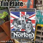 ブリキ看板 サインプレート NORTON ノートン イギリスバイク ユニオンジャック/1953