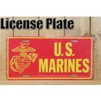 サインボード アメリカ看板 海兵隊 U.S.マリーンズ ミリタリープレート レッドxイエロー