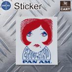 ステッカー PANAM パンナム航空 アメリカン エアライン TAG タグ 荷札 イングランド UV 耐水シール アメリカン雑貨